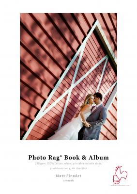 220 g Photo Rag® Book & Album, short gain, duo formát A3, 25 archů